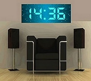 huge digital wall clock viel uhr f r wenig geld. Black Bedroom Furniture Sets. Home Design Ideas