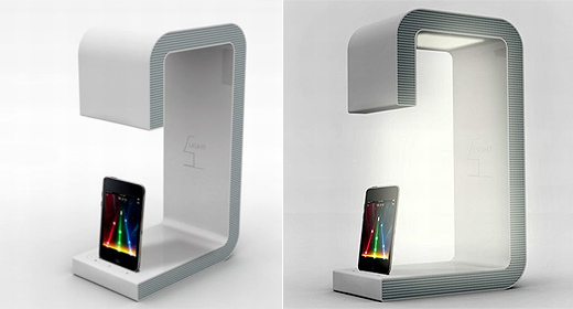 ipod dock mit nachttischlampe. Black Bedroom Furniture Sets. Home Design Ideas