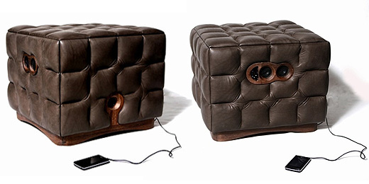 Music Chocolate: Gepolsterter Hocker mit iPod-Sound