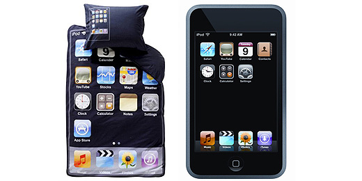 ipod bettw sche schlaf mit deinem ipod. Black Bedroom Furniture Sets. Home Design Ideas