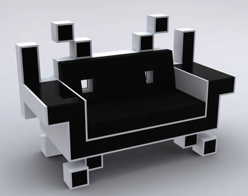 space invaders sofa ist nicht nur etwas f r gamer. Black Bedroom Furniture Sets. Home Design Ideas