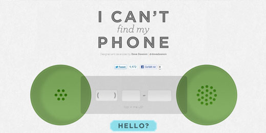 I can't find my Phone: Wo ist mein Handy?