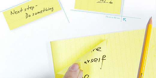 Save Post-it: Portionierbare Haftzettel