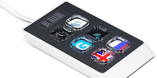 Optimus Mini Six: Sechs Tasten mit LCD-Display