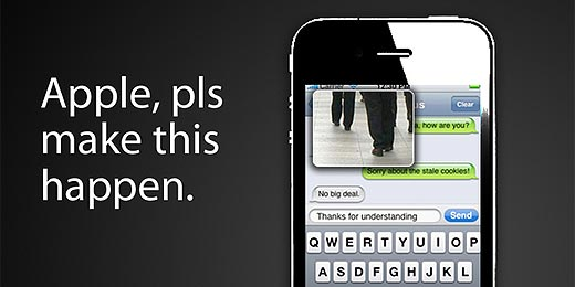 iPhone Texting & Walking Concept gegen Beulen