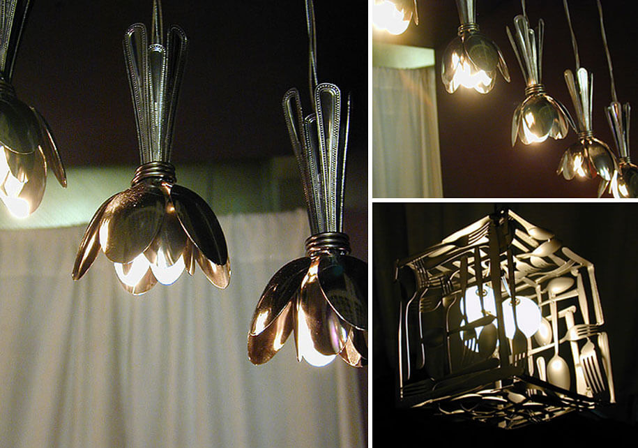 Upcycling Lampe aus Besteck