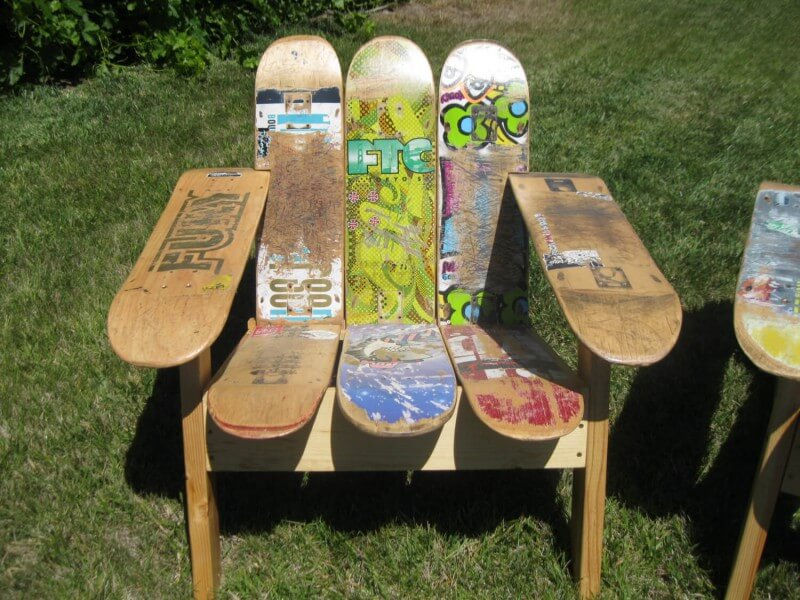 skateboard upcycling 5 ideen f r alte skateboard decks. Black Bedroom Furniture Sets. Home Design Ideas