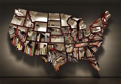USA Bücherregal