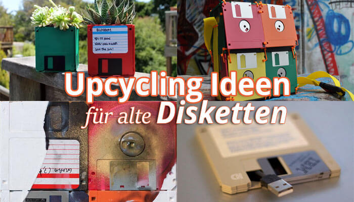 Retro 6 upcycling ideen f r alte 3 5 zoll floppy disks - Upcycling ideen ...